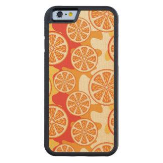 Modelo anaranjado retro de la fruta cítrica funda de iPhone 6 bumper arce