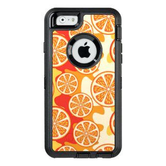 Modelo anaranjado retro de la fruta cítrica funda OtterBox defender para iPhone 6