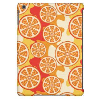 Modelo anaranjado retro de la fruta cítrica funda para iPad air