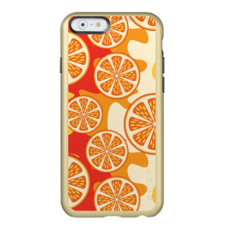 Modelo anaranjado retro de la fruta cítrica funda para iPhone 6 plus incipio feather shine