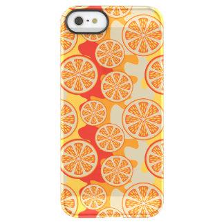 Modelo anaranjado retro de la fruta cítrica funda permafrost™ deflector para iPhone 5 de uncom