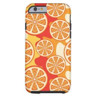 Modelo anaranjado retro de la fruta cítrica funda resistente iPhone 6
