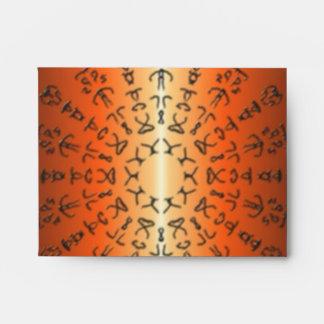 Modelo anaranjado/rojo con la muestra extraña sobres