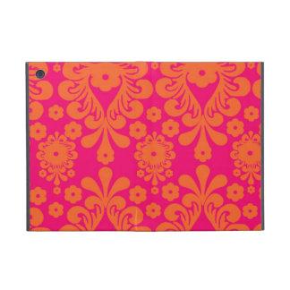 Modelo anaranjado rosado fucsia del damasco del vi iPad mini protectores