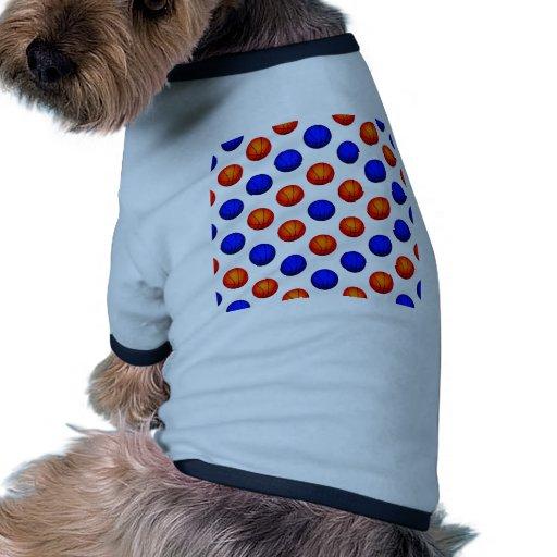 Modelo anaranjado y azul del baloncesto camisa de mascota