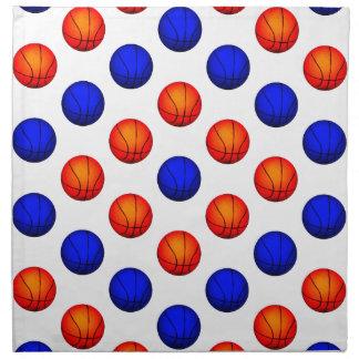 Modelo anaranjado y azul del baloncesto servilleta imprimida