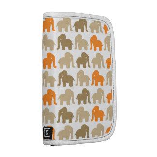 Modelo anaranjado y beige del elefante organizadores