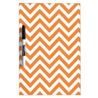 Modelo anaranjado y blanco de Chevron del zigzag Pizarras Blancas De Calidad