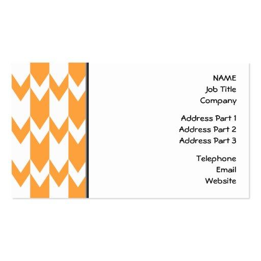 Modelo anaranjado y blanco de Chevron Tarjetas De Visita