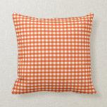 Modelo anaranjado y blanco de la guinga almohadas