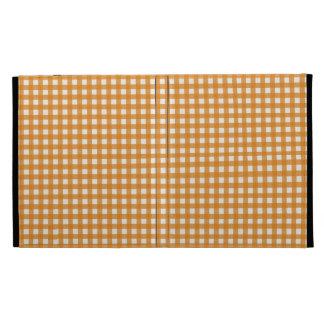 Modelo anaranjado y blanco de la guinga de la tela