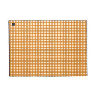 Modelo anaranjado y blanco de la guinga de la tela iPad mini fundas