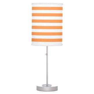 Modelo anaranjado y blanco de la raya lámpara de mesilla de noche