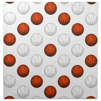 Modelo anaranjado y blanco del baloncesto servilletas