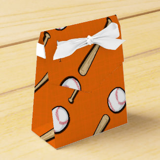 Modelo anaranjado y blanco del béisbol caja para regalo de boda