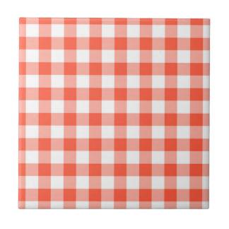 Modelo anaranjado y blanco del control de la azulejo cuadrado pequeño