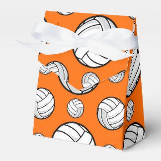 Modelo anaranjado y blanco del voleibol cajas para regalos de boda