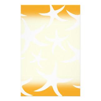 Modelo anaranjado y blanco soleado de las estrella flyer personalizado