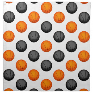 Modelo anaranjado y gris del baloncesto servilleta