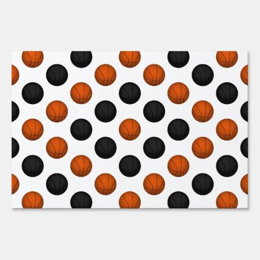 Modelo anaranjado y negro del baloncesto