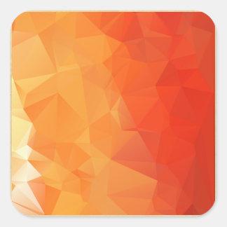 Modelo anaranjado y rojo de la faceta pegatina cuadrada