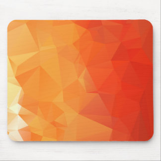 Modelo anaranjado y rojo de la faceta mouse pads