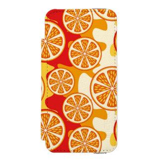 Modelo anaranjado funda cartera para iPhone 5 watson