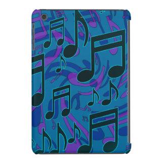Modelo animado de la música del verde azul de las fundas de iPad mini retina