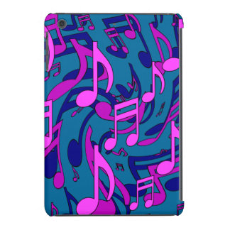 Modelo animado de la música del verde azul del fundas de iPad mini retina