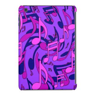 Modelo animado rosado púrpura de la música de las fundas de iPad mini retina