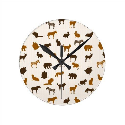 Modelo animal 1 reloj de pared