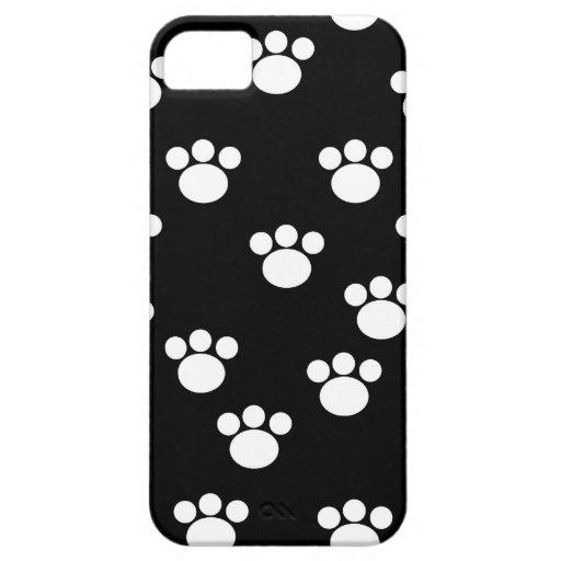 Modelo animal blanco y negro de la impresión de la iPhone 5 carcasa