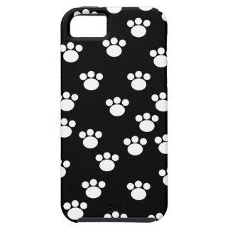 Modelo animal blanco y negro de la impresión de la funda para iPhone SE/5/5s