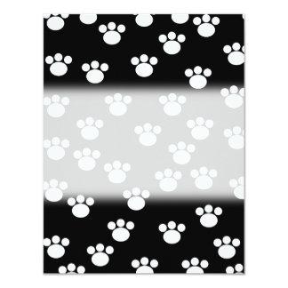 Modelo animal blanco y negro de la impresión de la invitación 10,8 x 13,9 cm