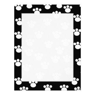 Modelo animal blanco y negro de la impresión de la membrete a diseño