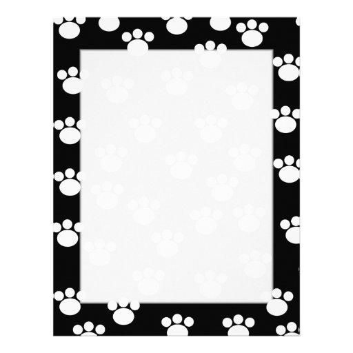Modelo animal blanco y negro de la impresión de la membrete