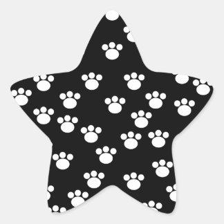 Modelo animal blanco y negro de la impresión de la pegatina en forma de estrella