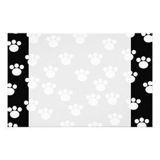 Modelo animal blanco y negro de la impresión de la personalized stationery