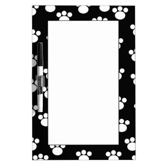 Modelo animal blanco y negro de la impresión de la tableros blancos