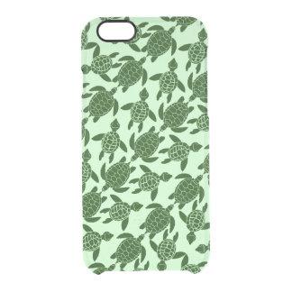 Modelo animal bonito de la tortuga de mar verde funda clearly™ deflector para iPhone 6 de uncommon