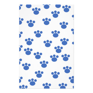 Modelo animal de la impresión de la pata Azul y b Flyer A Todo Color