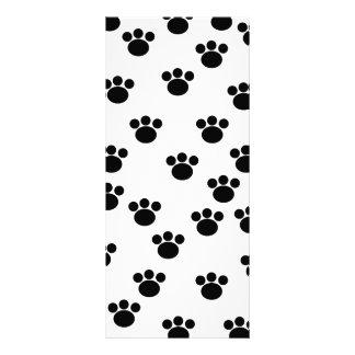 Modelo animal de la impresión de la pata. Blanco y Tarjeta Publicitaria Personalizada