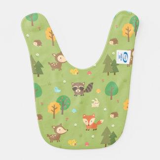 Modelo animal del arbolado lindo del bosque para baberos para bebé