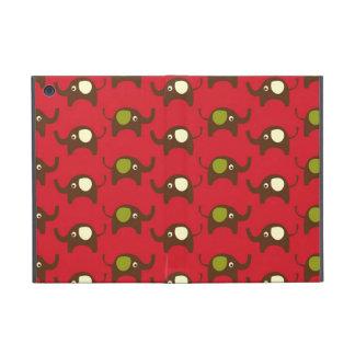 Modelo animal lindo rojo del kawaii de los elefant iPad mini cárcasas