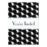 Modelo animal. Wallabies en blanco y negro. Invitación 12,7 X 17,8 Cm
