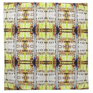 modelo apenado blanco del marrón amarillo servilletas imprimidas