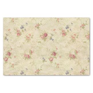 Modelo apenado de la tela de los rosas del vintage papel de seda pequeño