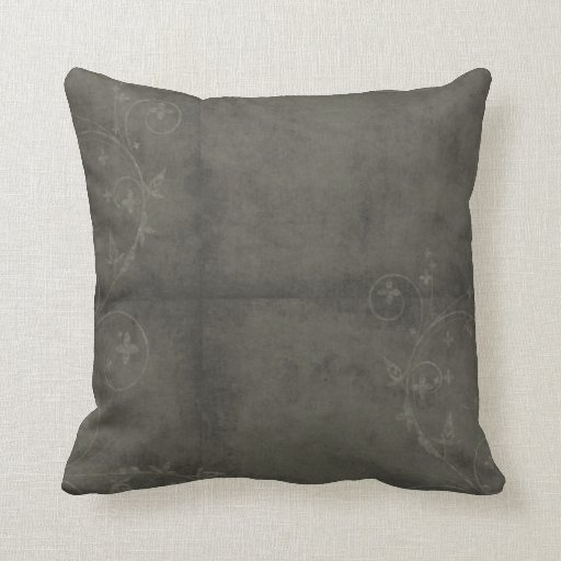 Modelo apenado gris oscuro almohadas