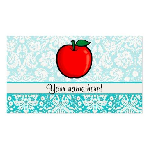 Modelo Apple del damasco del trullo Plantillas De Tarjetas De Visita