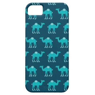 Modelo árabe azul del camello de la India iPhone 5 Carcasas
